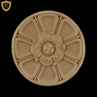 Round Rosettes - Colonial Floral Circle Design - Composition Material - (Dia.): 4