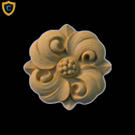 Round Rosettes - Modern Flower Circle Design - Composition Material - (Dia.): 2-1/4