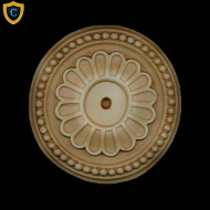 Round Rosettes - Decorative Colonial Circle Design - Composition Material - (Dia.): 3-7/8