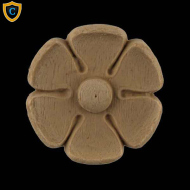 Round Rosettes - Classic Flower Circle Design - Composition Material - (Dia.): 1-5/8
