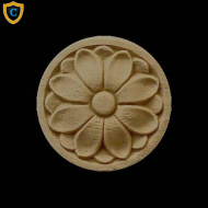 Round Rosettes - Adams Floral Circle Design - Composition Material - (Dia.): 1-1/2