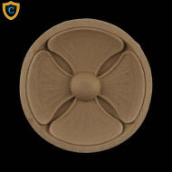 Round Rosettes - Modern Flower Circle Design - Composition Material - (Dia.): 4-3/8