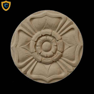 Round Rosettes - Decorative Flower Circle Design - Composition Material - (Dia.): 4-1/4