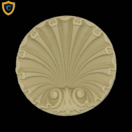 Round Rosettes - Colonial Shell Circle Design - Composition Material - (W): 3-1/4
