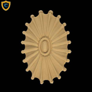 Oval Rosette Design, Decorative Compo Rosettes