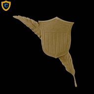 Shield Design - Feather & Shield Design - Composition Material - (W): 5
