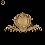 Shield Design - Louis XV Design - Composition Material - (W): 17-1/2