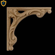 Decorative Composition Stair Brackets | Design #SB-F966-6