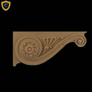 Decorative Composition Stair Brackets | Design #SB-42031-6