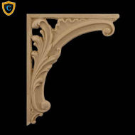 Decorative Composition Stair Brackets | Design #SB-F176-6