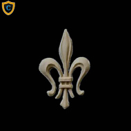 Paintable Fleur di Lis Wall Accent, Decorative Ornaments