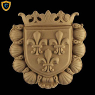Heraldic Shield Fleur di Lis Accent, Architectural Home Products