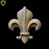 Paint-Grade Fleur di Lis Composition Ornament