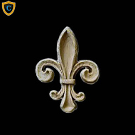 Small Fleur di Lis Decorative Wall Accents, Architectural Home Ornaments