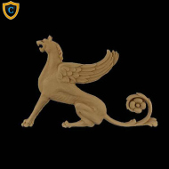 Composition Applique For Wood - Griffin Design (Facing Left) - (W): 9