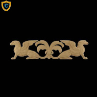Composition Applique For Wood - Griffin Design - (W): 17-1/2