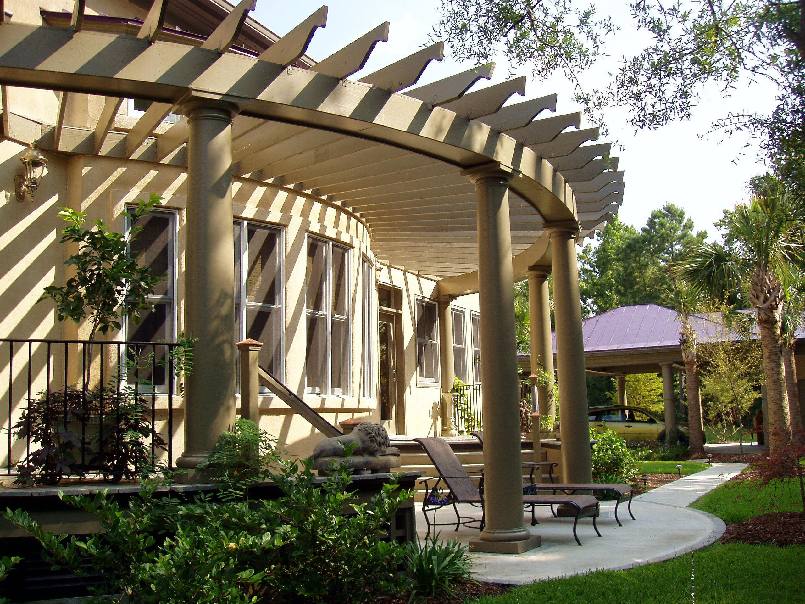 Pergola custom pergola design 1018 chadsworth columns for Pergola designs