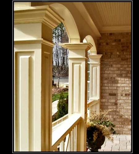 Advanced cellular vinyl columns pvc bungalow and for How to build craftsman porch columns