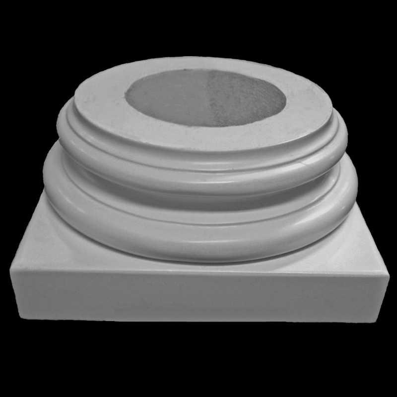 Architectural Column Base : Polyurethane attic base chadsworth columns shop lumns