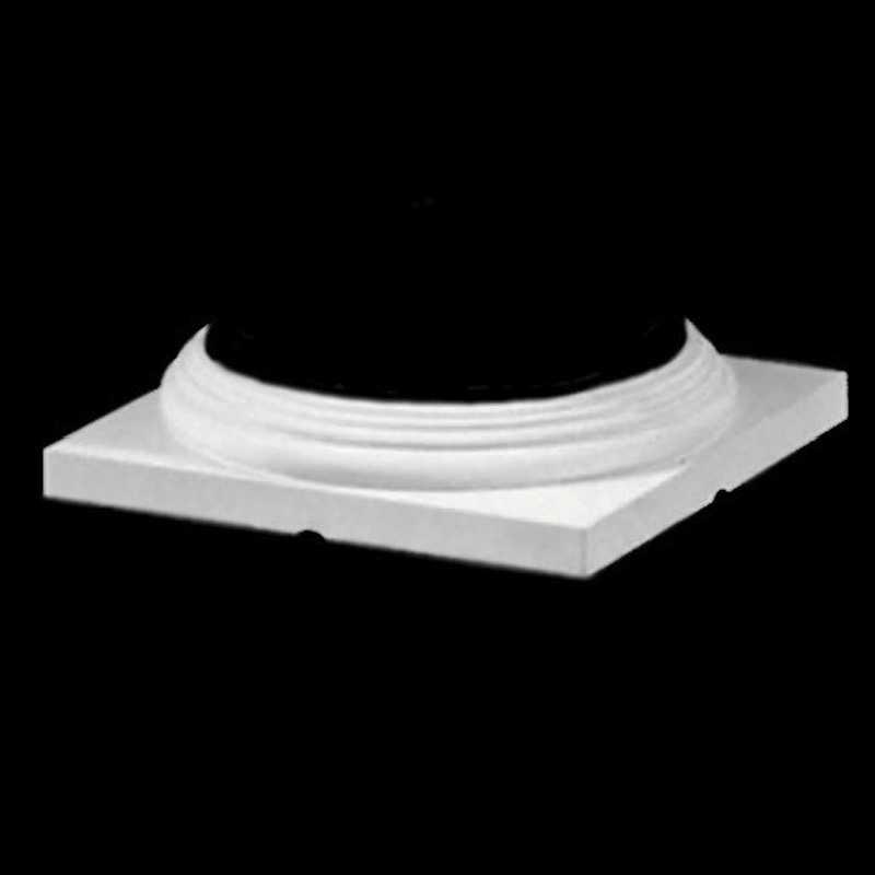 Doric order roman polyurethane colonial base molding for Polyurethane columns