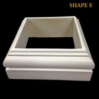 Cast Marble - Composite Square Tuscan Base Molding & Plinth