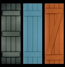 Classic shutter collection primed exterior composite wood shutters - Wood exterior paint collection ...