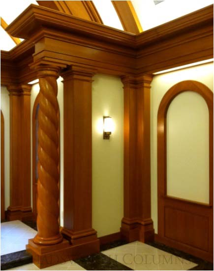 Darien Center Chapel Project | Custom Wood Rope Twist Columns by ...