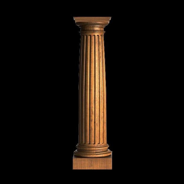 5 diameter x 2 39 height roman doric wood fluted for Doric columns