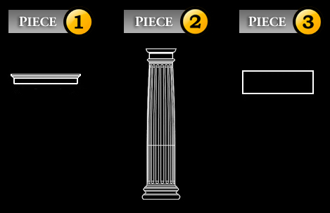 three columns shop with