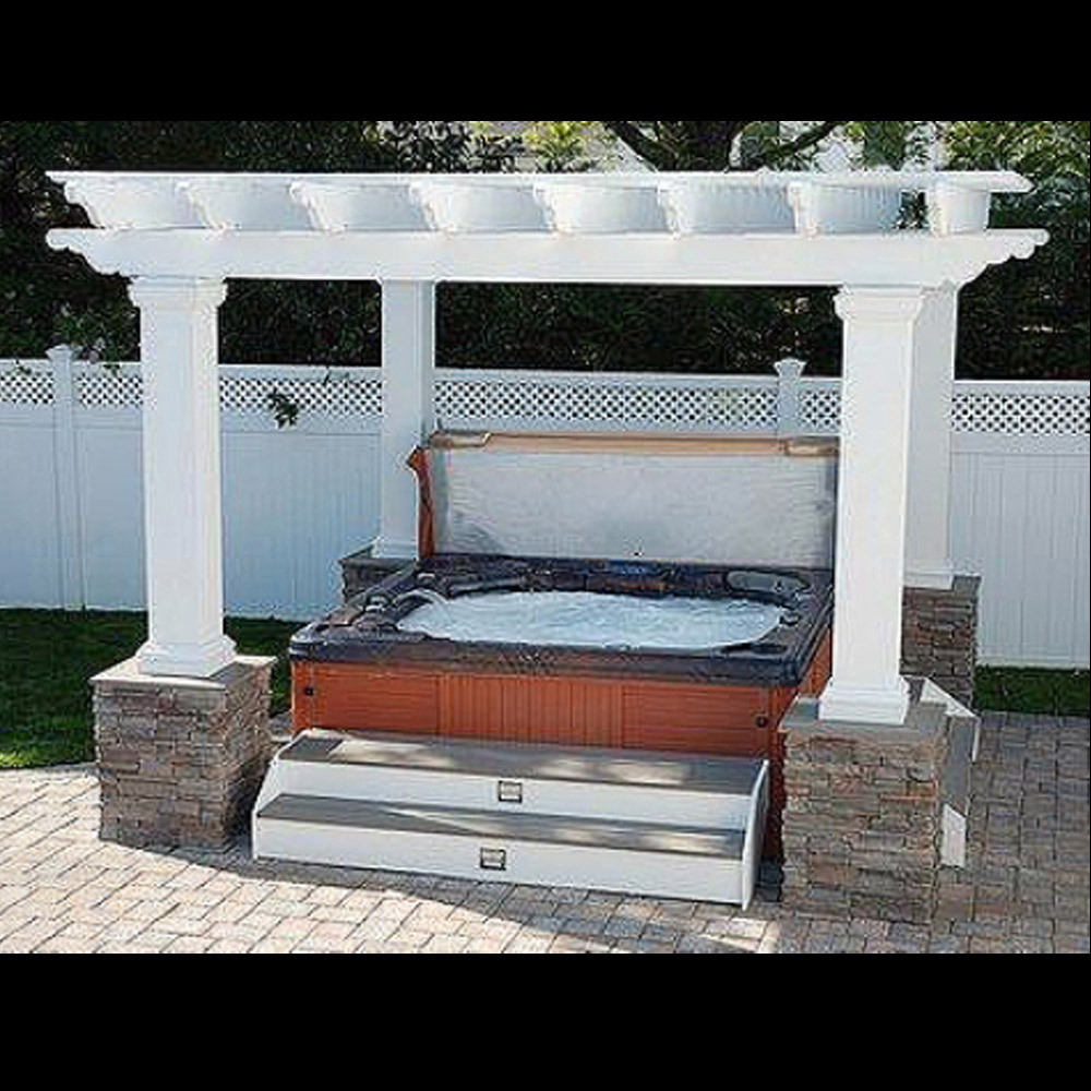square fiberglass outdoor pergola kit column centers 8 u0027 x 8