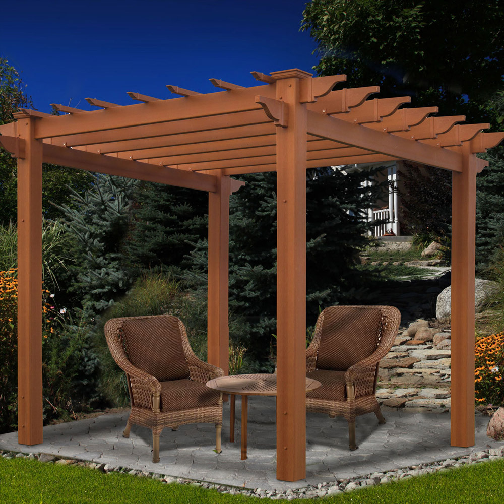 Walkway vinyl pergola kits garden pergolas chadsworth for Photos pergolas