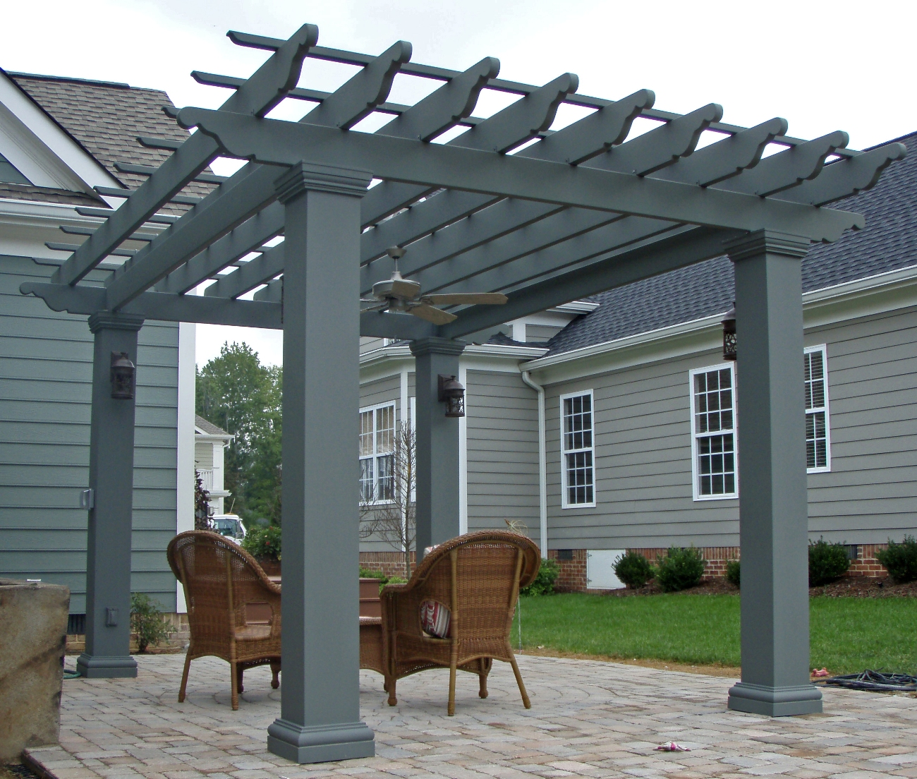 Square Fiberglass Outdoor Pergola Kit   Column Centers: 12u0027 X 12u0027    Chadsworth Columns: Shop.columns.com