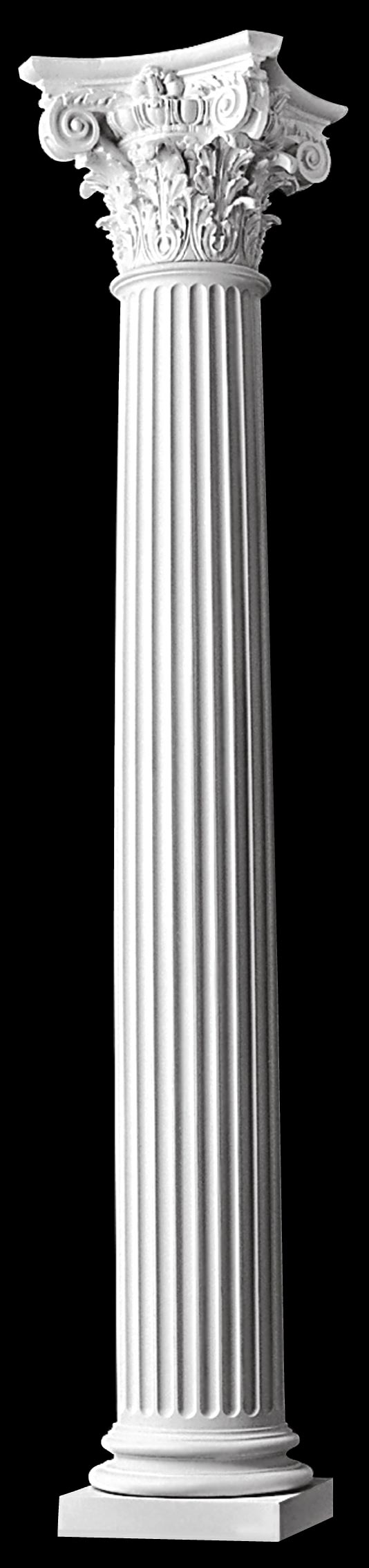 modern composite fluted columns tapered polystone