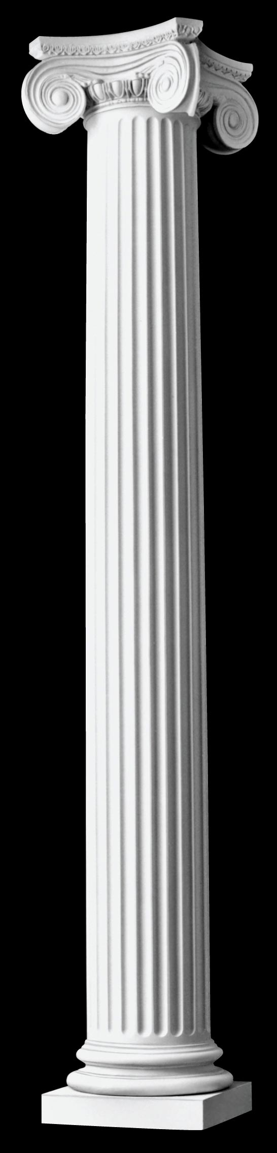 Architectural polystone columns fluted tapered greek for Wood architectural columns