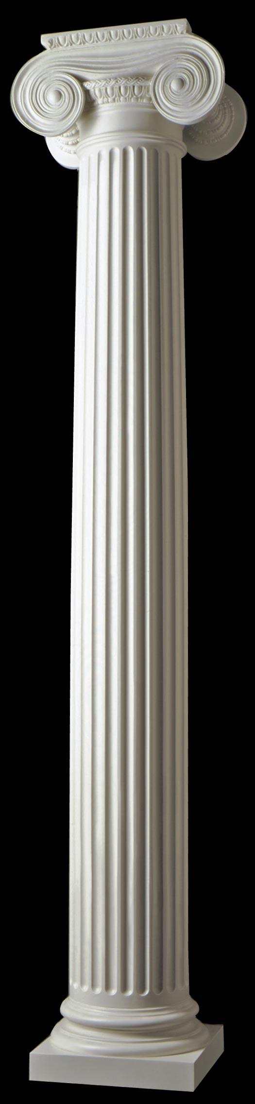 Fluted Composite Columns Round Polystone Greek
