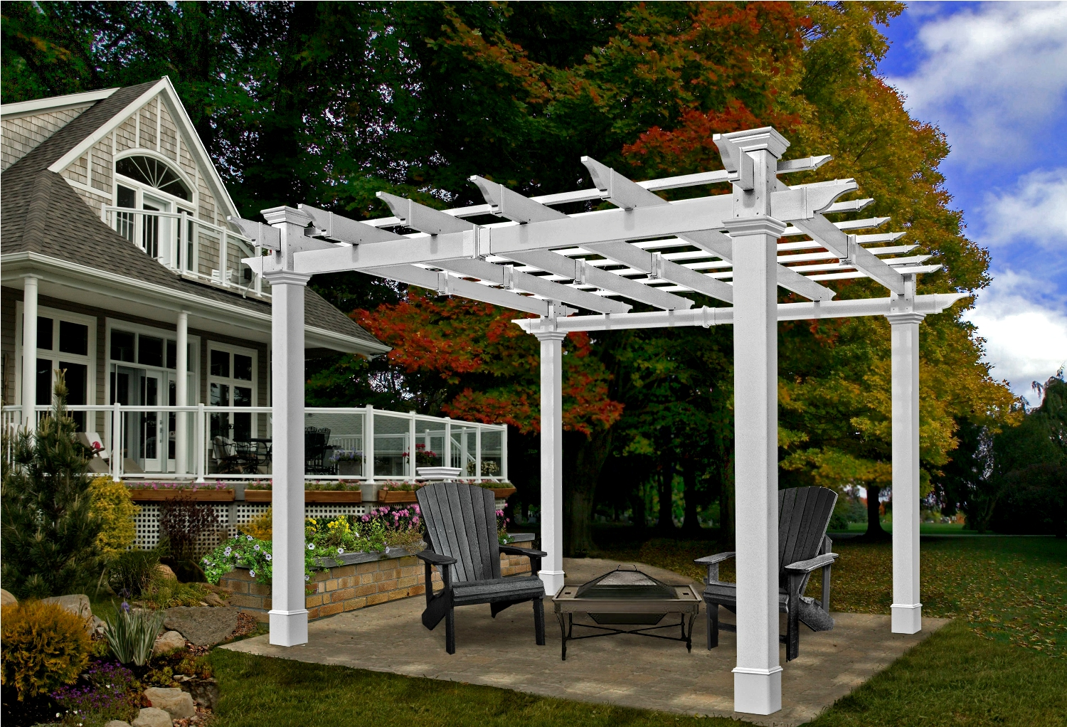 Mandalay Pergola - Chadsworth's Advanced Cellular Vinyl Pergolas ...