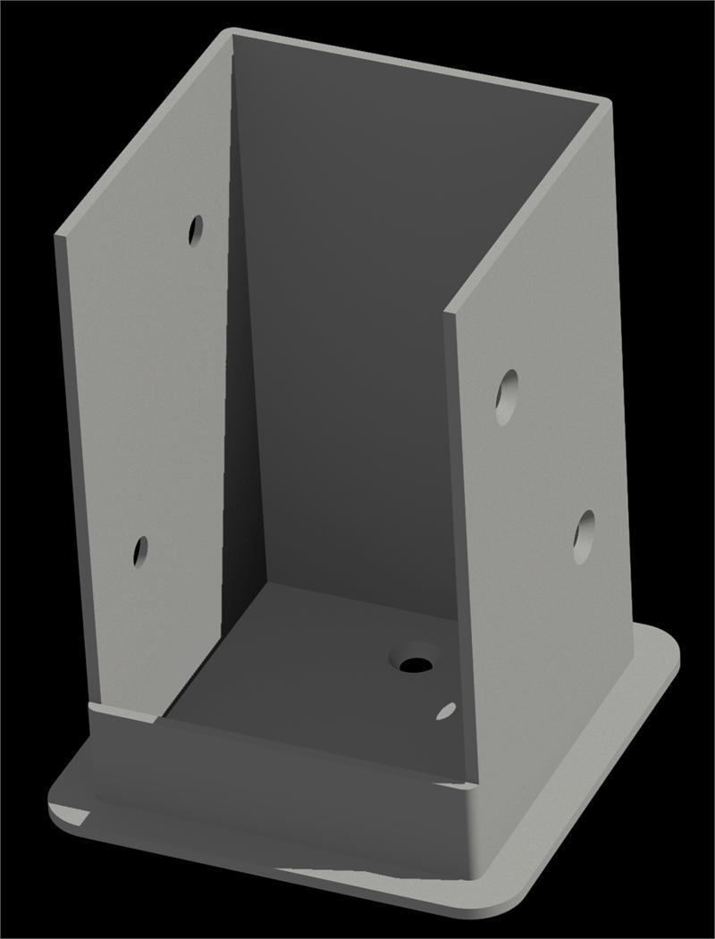 Bolt Down Bracket Kit Galvanized Steel Shop Columns Com