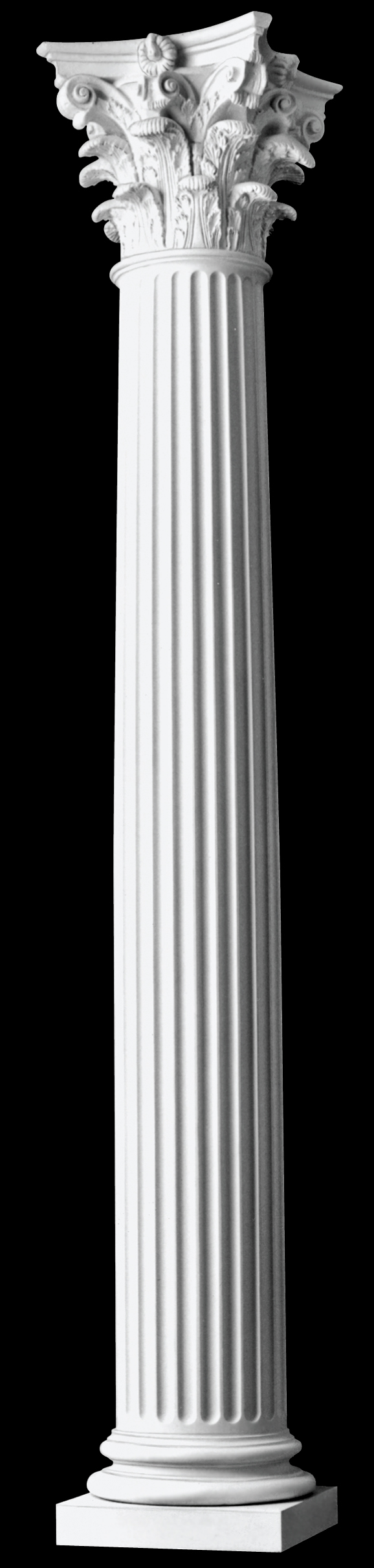 Architectural Column Base : Architectural columns fluted roman corinthian wood