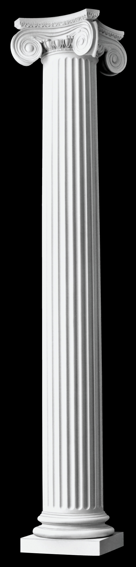 fluted architectural wood columns greek angular ionic design
