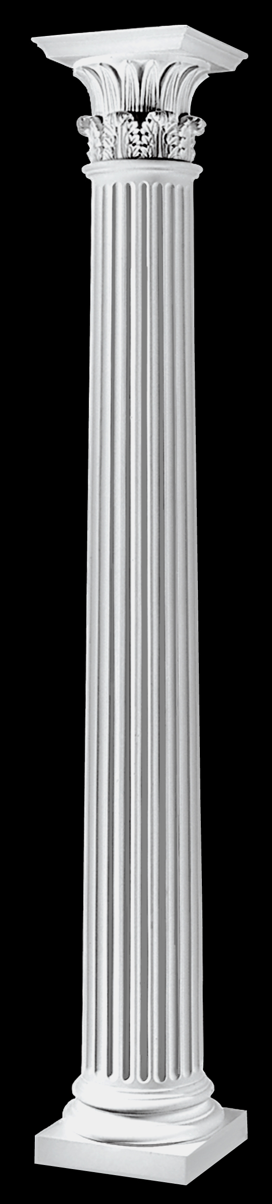 Fluted architectural wood greek corinthian columns for Architectural wood columns
