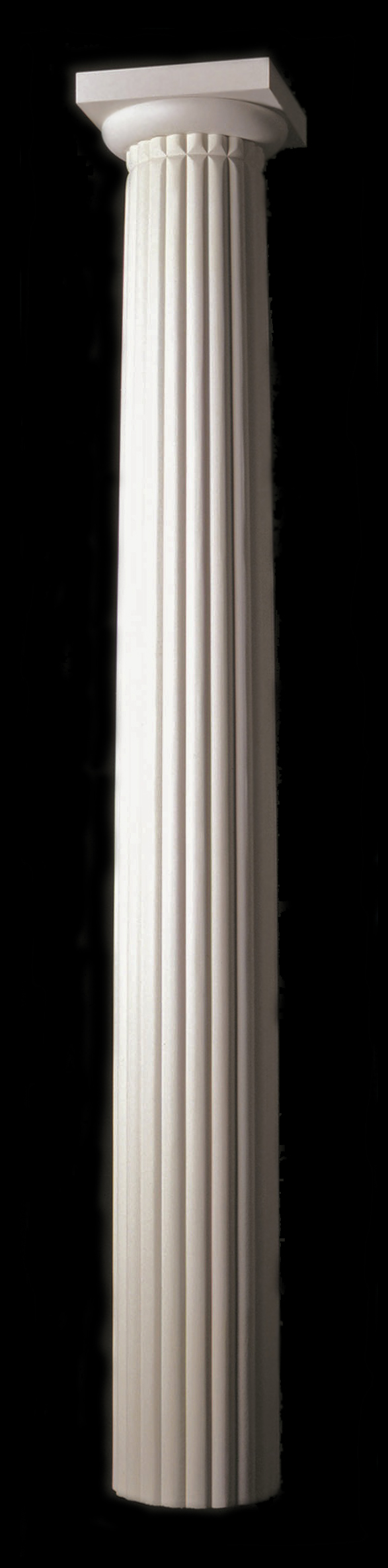 Architectural Column Base : Reeded wood column fluting tuscan columns