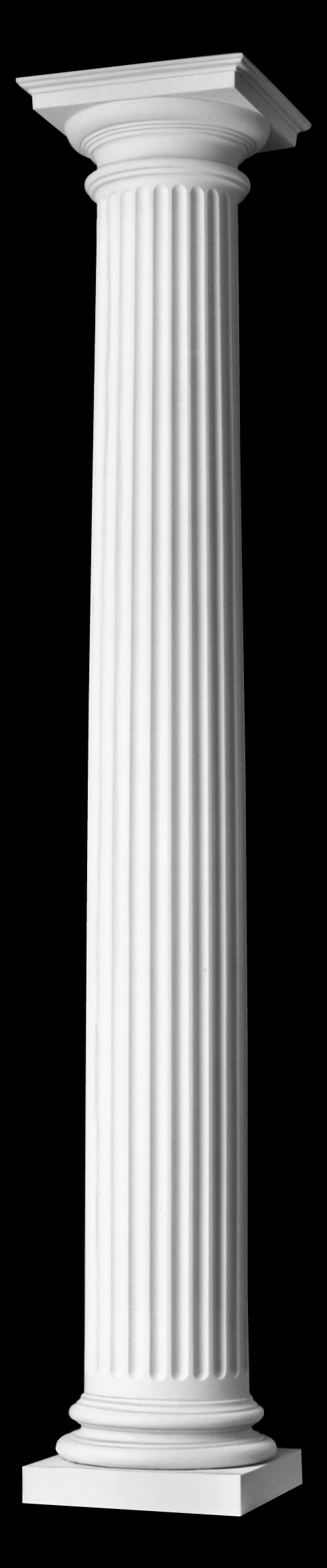 Architectural Column Base : Fluted wood column roman doric capital ionic attic base