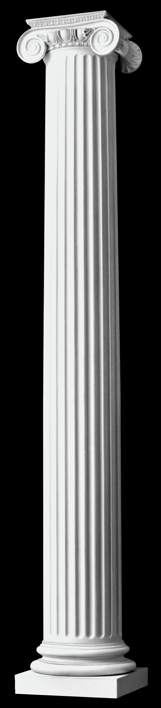 Authentic Replication Roman Ionic Wood Columns Fluted Columns Chadsworth Columns