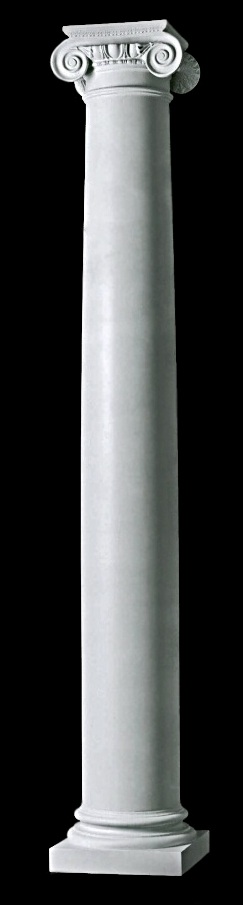 Architectural fluted roman ionic wood columns chadsworth for Fluted fiberglass columns