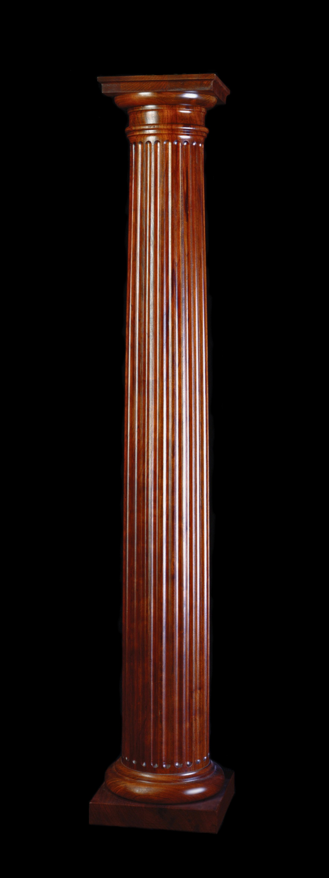 Wooden Pillars Designs : Stain grade fluted cherry wood tuscan column
