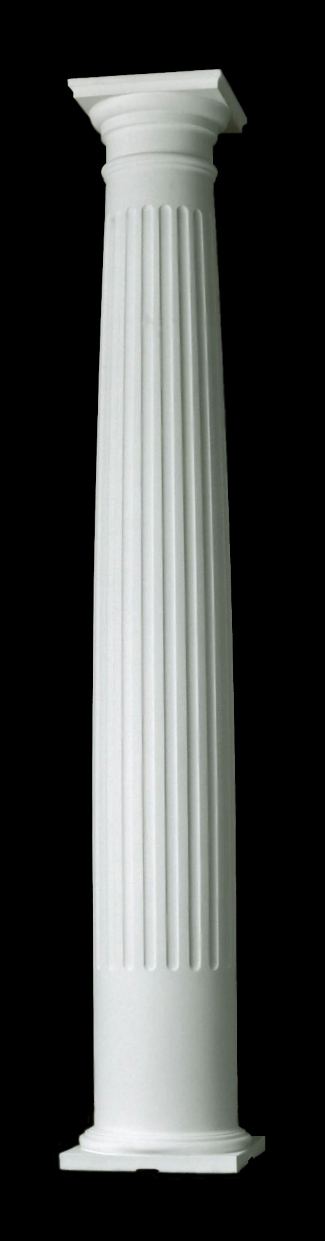 Fluted Builder Grade Columns Tuscan Style Exterior Columns