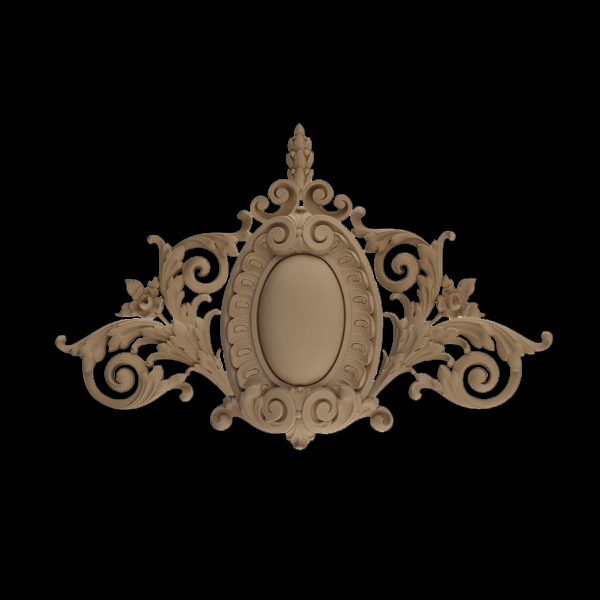 French renaissance decorative center cartouche onlays