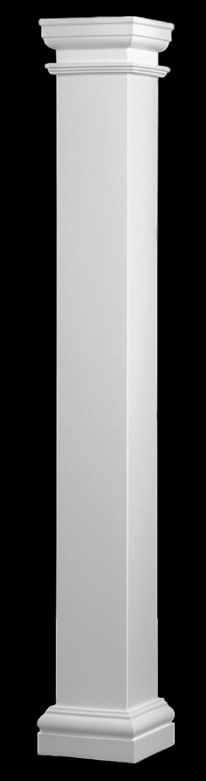 Non tapered columns fiberglass tuscan style columns for Fiberglass square columns