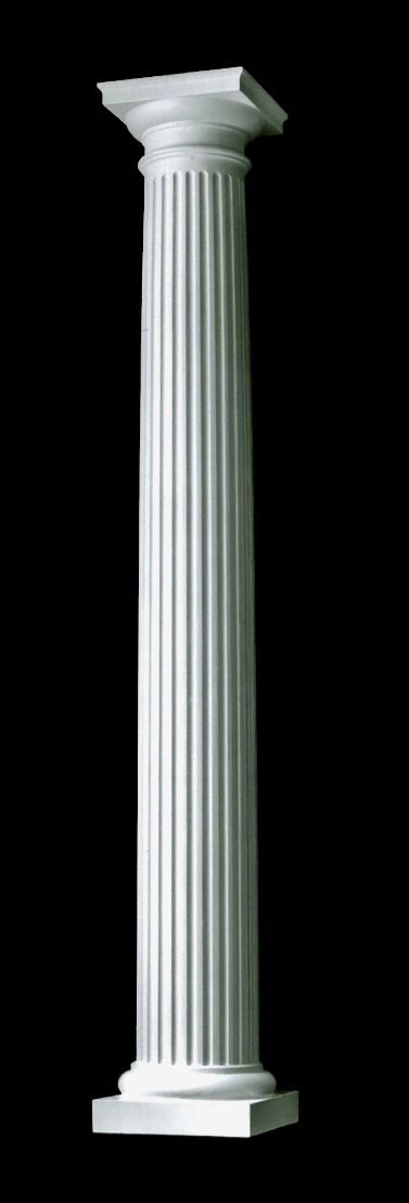 Polystone tuscan fluted round column for Round columns