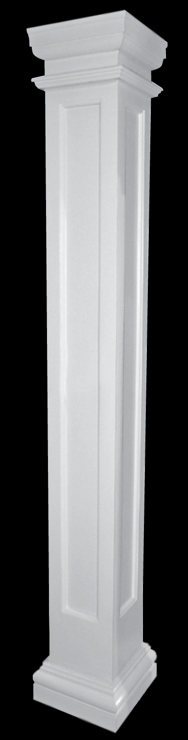 Recessed Panel Fiberglass Columns Porch Columns